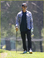 Hayden Christensen out for a round of golf in Los Angeles August 3, 2010.
