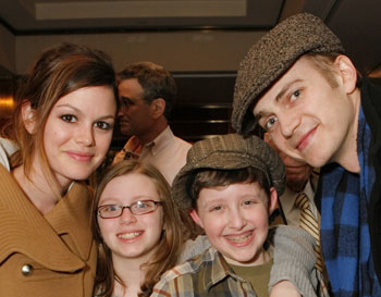 Hayden Christensen and Rachel Bilson attend Collegiate Chorale at Carnegie Hall.