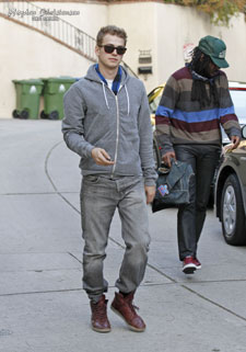 Hayden Christensen and K-OS out in West Hollywood February 2012.