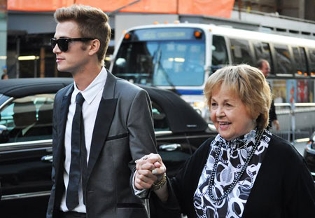 Hayden Christensen with his grandmother at the 2010 CFDA Fashion Awards June 7th in New York.