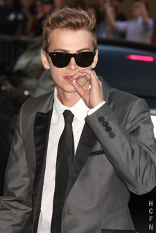 Hayden Christensen in New York at the 2010 CFDA Fashion Awards.
