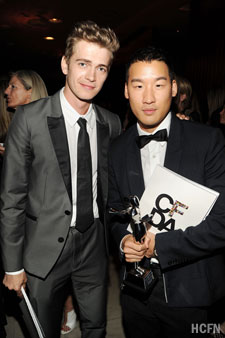 Hayden Christensen with designer Richard Chai at the 2010 CFDA Fashion Awards June 7th in New York.