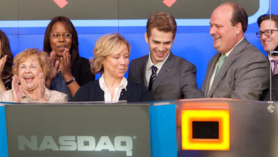 Hayden Christensen at NASDAQ Opening Ceremonies May 6, 2010