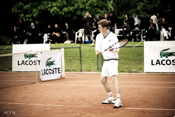 Hayden Christensen mixed doubles match with Pete Sampras November 17, 2011.