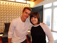 Hayden Christensen with fan Ariel in NYC