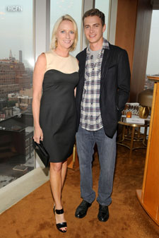 Hayden Christensen and Alure Magazine Editor-in-chief Linda Wells at Reeve Champions Summer Event
