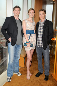 Matthew Reeve, Alexandra Reeve Givens, Hayden Christensen at the Christopher Reeve Foundation