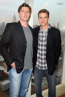 Hayden Christensen with Matthew Reeve for Champions Summer Party charity event