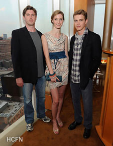 Hayden Christensen with Alexandra Reeve Givens and Matthew Reeve