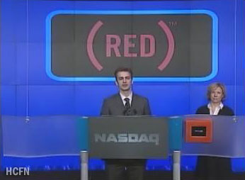 Hayden Christensen talks about the Lazarus Campaign for HIV and AIDS at the NASDAQ Opening