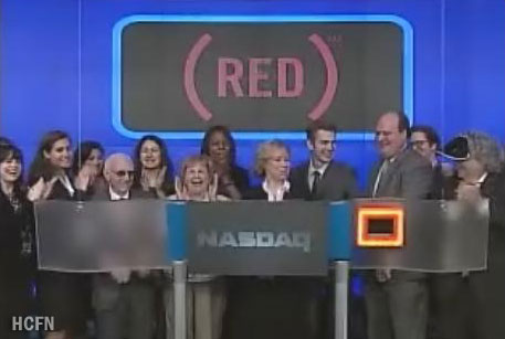 Hayden Christensen rings NASDAQ Opening Bell for May 6, 2010