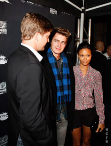Hayden Christensen with Tove Christensen and Thandie Newton celebrate in honor of the 2010 Toronto Film Festival.
