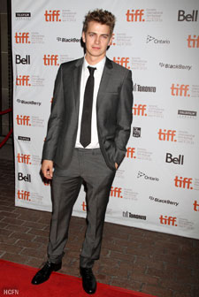 Hayden Christensen on the red carpet for 2010 TIFF premiere of Vanishing on 7th Street.