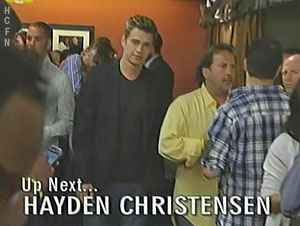 Hayden Christensen up next on Jimmy Kimmel Live.
