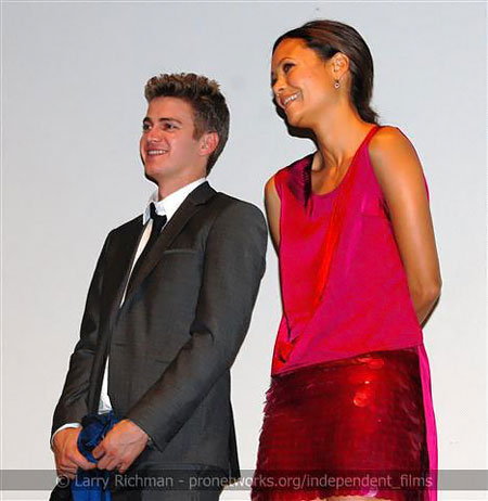 Hayden Christensen and Thandie Newton at Vanishing on 7th Street Q&A at TIFF 2010 .