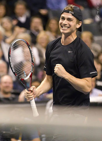 Hayden Christensen tennis November 17, 2011 at the Air Canada Centre.