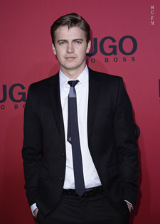 Hayden Christensen attends the 2011 Hugo Boss Fashion Show in Germany.