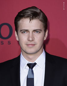 Hayden Christensen on red carpet for 2011 Hugo Boss Show.