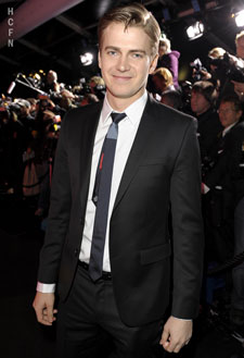 Hayden Christensen on red carpet for Fall/Winter 2011 Hugo Boss Fashion Show.