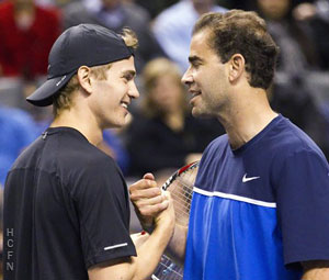Hayden Christensen and Pete Sampras November 17, 2011 at the Air Canada Centre.