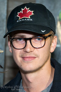 Hayden Christensen art exhibit May 10, 2012