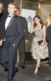 Hayden Christensen and Rachel Bilson arrive at the 2010 Met Costume Institute Gala