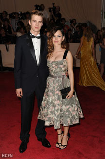 Hayden Christensen and Rachel Bilson out in New York for the Met Gala 2010.