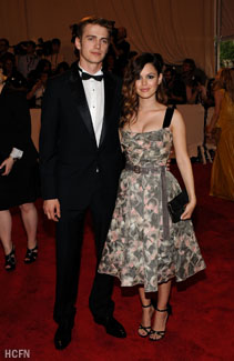 Hayden Christensen and Rachel on the red carpet for the 2010 Met Gala