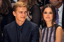 Hayden Christensen and Rachel Bilson at Versace for Milan Fashion Week 2012.
