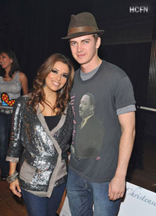 Hayden Christensen and Eva Longoria at Rally for Kids With Cancer Scavenger Cup.
