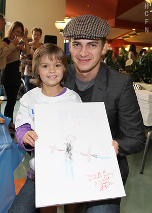 Hayden Christensen visits SickKids Hospital in Toronto during the Rally for Kids With Cancer.