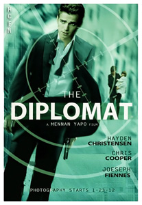 Teaser poster for the upcoming film The Diplomat with Hayden Christensen