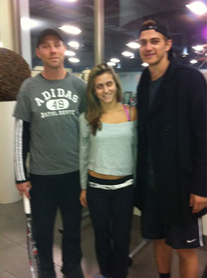 Hayden Christensen pictured with fan in Toronto the day before doubles match with Pete Sampras November 17, 2011.
