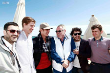 Hayden Christensen, brother Tove and new international partners for Glacier Films and the Russian Pavilion, May 20, 2013, Cannes, France.