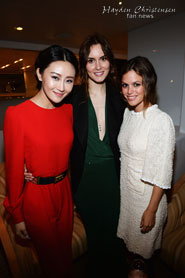 Lin Peng, Christina Andhel and Rachel Bilson attend the Glacier Films launch party hosted by Hayden Christensen and Michael Saylor aboard the Yacht Harle on May 19, 2013 in Cannes, France.