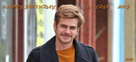 Happy Birthday Hayden Christensen 2013.