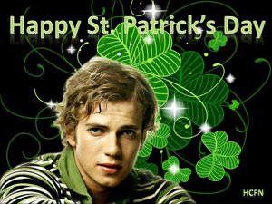 Happy St. Patrick's Day from Hayden Christensen Fan News
