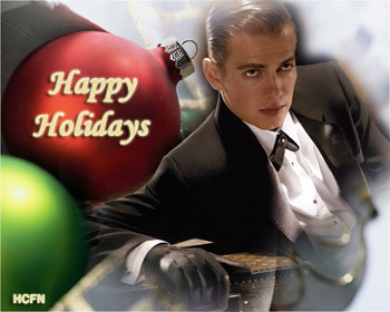 Happy Holidays and Merry Christmas 2011 from Hayden Christensen Fan News.