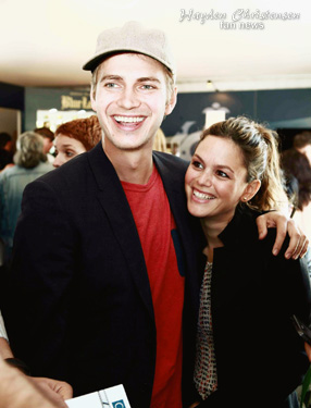 Actor and Producer Hayden Christensen with Rachel Bilson at the 2013 Cannes International Film Festival.