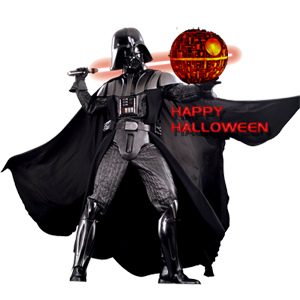 Darth Vader carving a Happy Halloween pumpkin Death Star for Hayden Christensen Fan News.