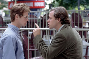 Hayden Christensen and Peter Sarsgaard in Shattered Glass.