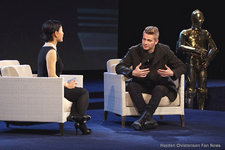 Hayden Christensen was interviewed by actress Joan Chen for China's CCTV6 Star Wars special.