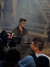 Hayden Christensen another fight scene on location for Outcast