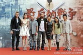 Hayden Christensen, Nicolas Cage, Liu Yifei and Summer Jike at Outcast Press Conference