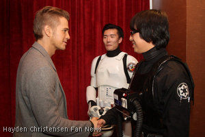 Hayden Christensen meets with Star Wars 501st Garrison in China.