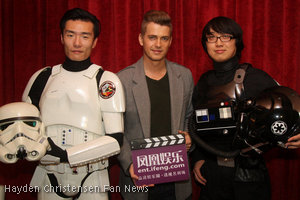 Hayden Christensen Star Wars event in China with the 501st Legion.