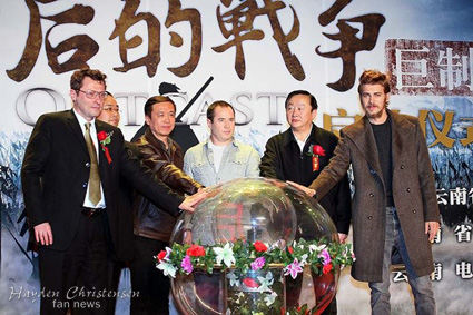 Hayden Christensen at Official launch of Outcast in Beijing. Arclight Films.
