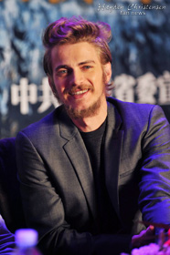 Hayden Christensen on stage in Beijing for launch of new movie Outcast.