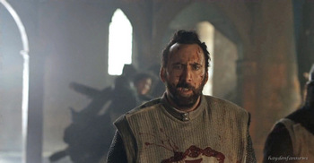 Nicolas Cage as Crusader Gallain in Outcast trailer.