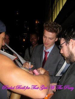 Hayden Christensen pictured signing autographs at The Lazarus Effect Premiere.